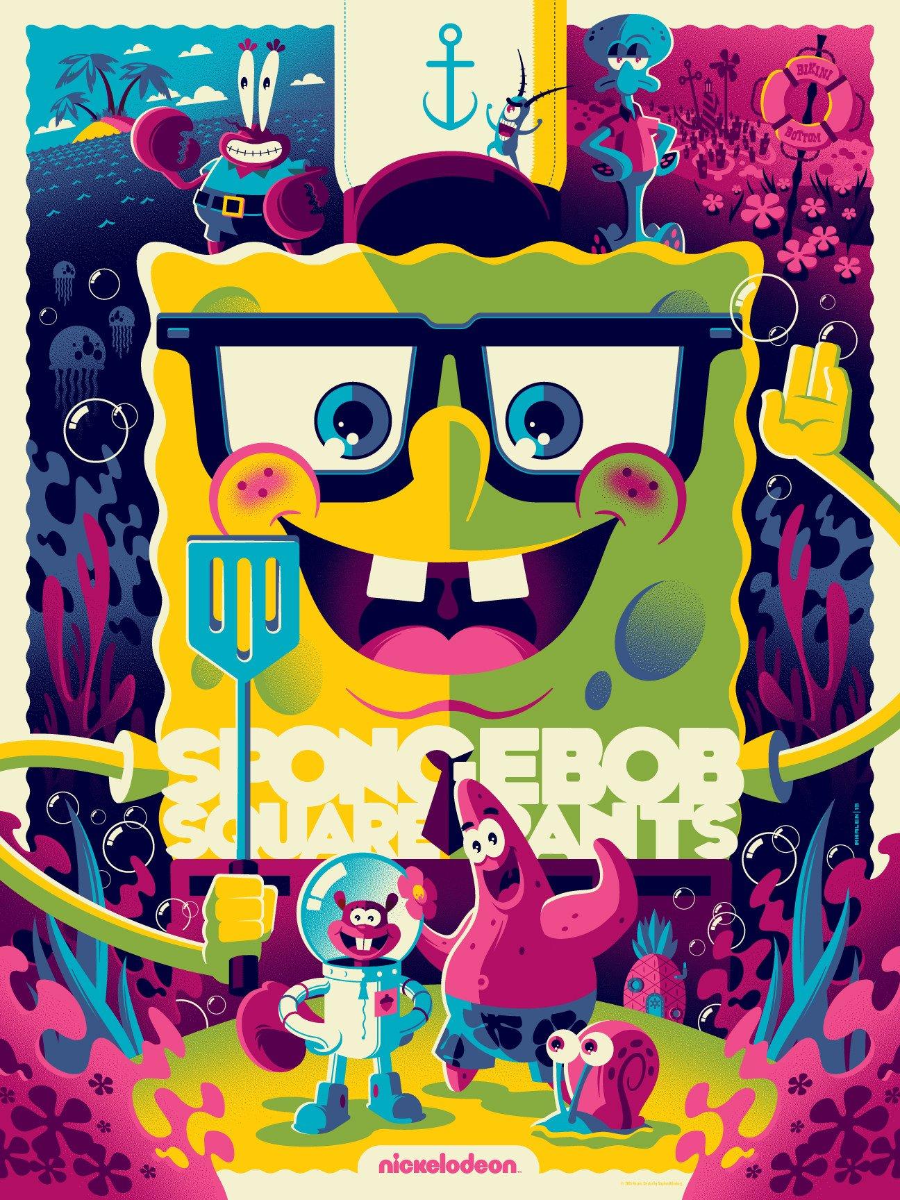 Spongebob Squarepants (Variant) - Poster - Canvas Print ...