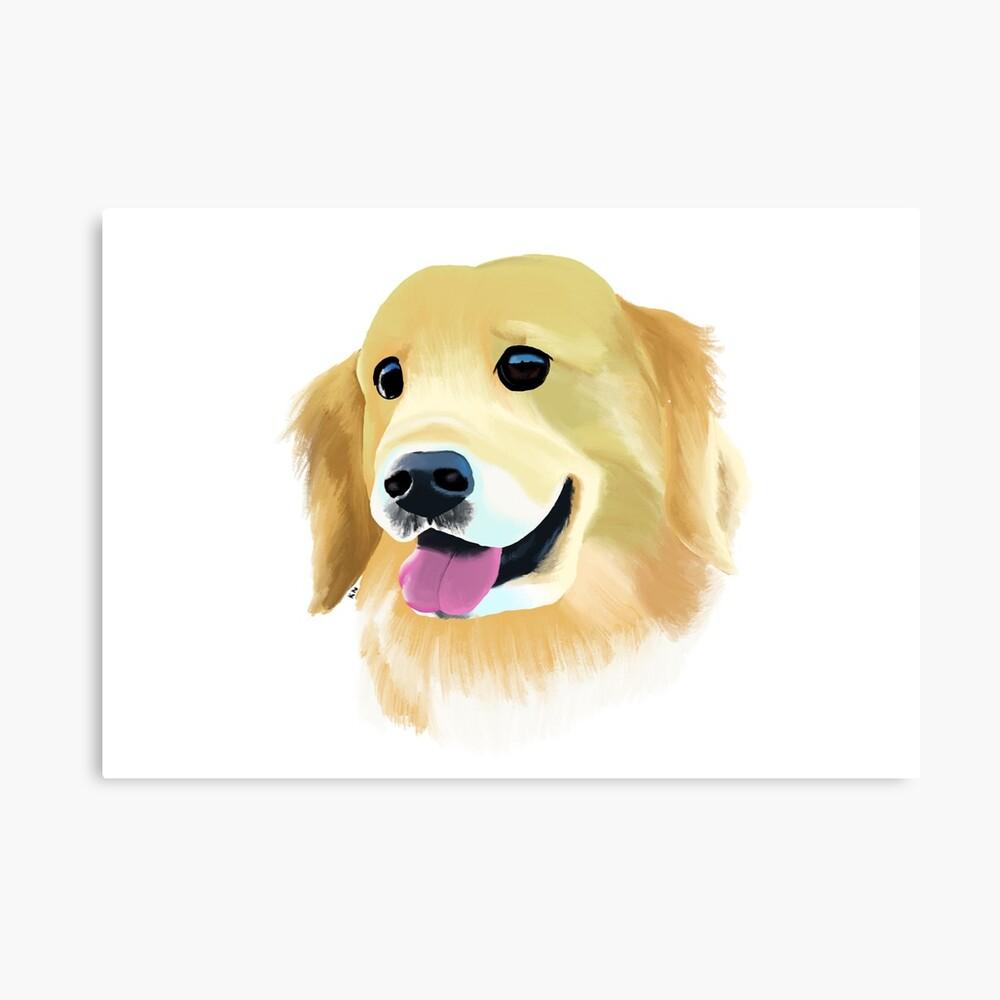 Golden Retriever Happy Dog Smiley Dog Puppy Eyes - Poster ...