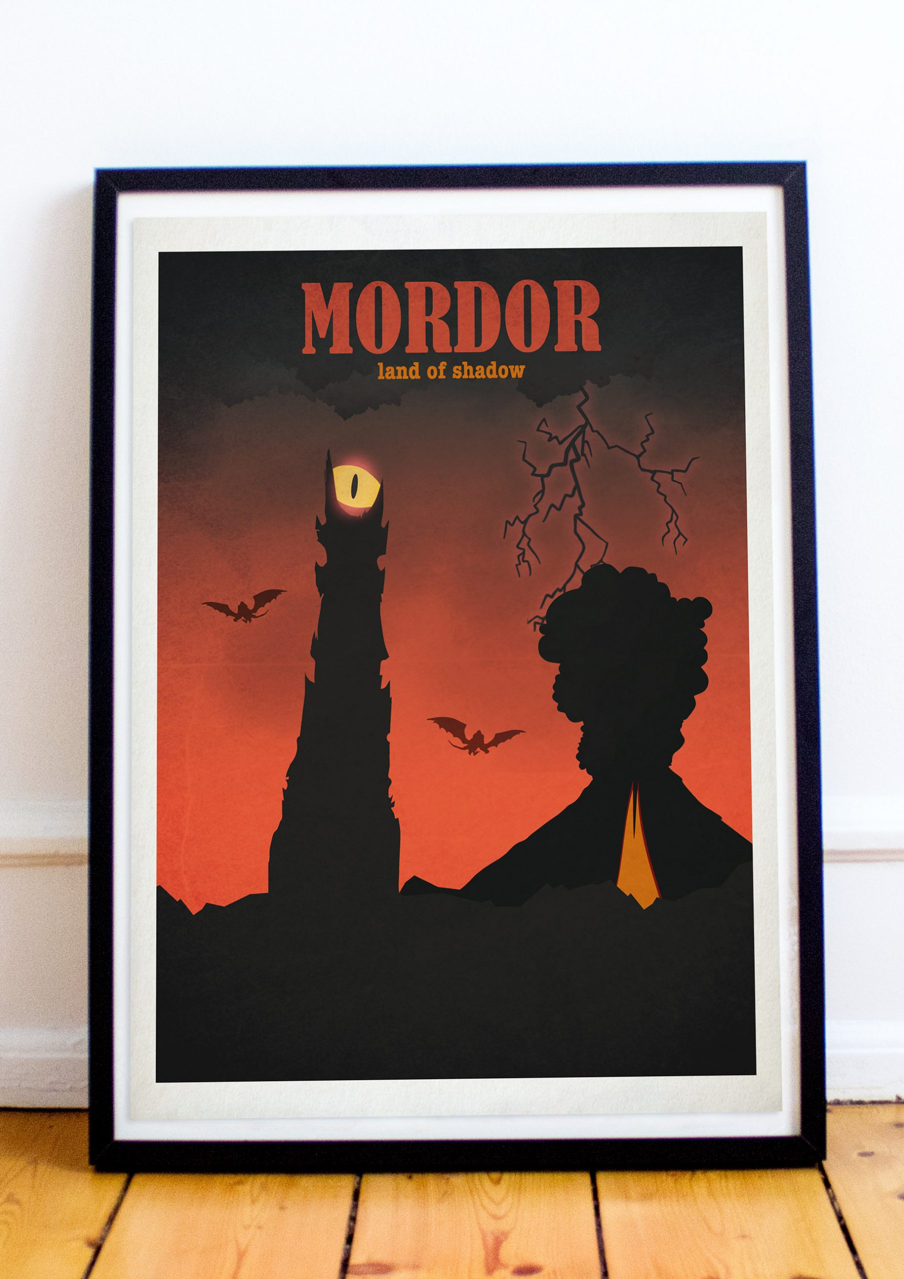 Mordor - Lord Of The Rings - Hobbit - Travel Style Art ...